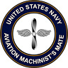 "Navy Aviation Machinists Mate AD 5.5"" Die Cut Sticker 'Officially Licensed'"