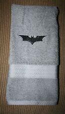 """Dark Knight"" 1 Gray Hand Towel  NWOT embroidered w/black thread"