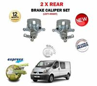 FOR RENAULT TRAFIC 2001-2008 NEW LEFT + RIGHT 2X REAR AXLE BRAKE CALIPER SET