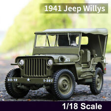 1941 Jeep Willys MB Alloy 1:18 Scale Diecast Model US Army Military Off-road Car