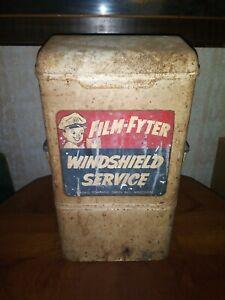 Vintage Film-Fyter Gas/Service Station Windshield Washing Service Calwis Co.