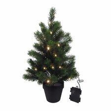 Künstlicher TANNENBAUM im TOPF Weihnachtsbaum  53 cm LED LICHTERKETTE 3016713-00