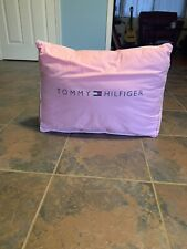 Vintage Rare Tommy Hilfiger Pink Spell out Wedge Pillow