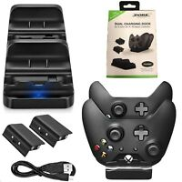 Dual Charging Dock Station for Xbox One Wireless Controller With 2 x Batteries