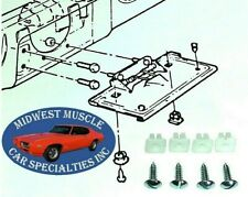 GM Front Rear Bumper License Plate Holder Frame Bolts & Nuts Hardware 8pc PM