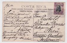 Costa Rica Postcard to Austria 1911 Stamp