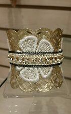 David's Bridal Mixed Media Applique Cuff Bracelet, Style SB2969 ($50 retail)