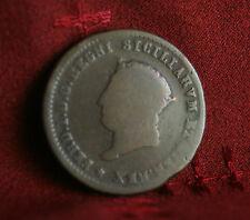 Italian States 5 Tornesi 1819 Naples & Sicily Copper World Coin Italy Ferdinando