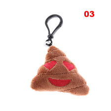 Cute Emoji Emoticon Key Chain Poo Shape Plush Stuffed Doll Toys Gift Keyring 01