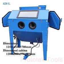 cabina sabbiatrice da 420 litri con accessori pressione d'esercizio 3.5 5.5 bar