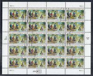 1999 US 3316, California Gold Rush, Sheet of 20, Cancelled w/ Gum - P22222 Rare