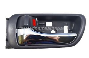 fits Toyota Inside Interior Door Handle Driver Side Front or Rear Gray Chrome
