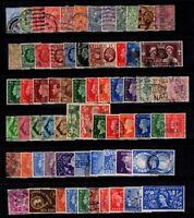Großbritannien 1902-1953 Gestempelt 100% König Eduard VII., König Georg V.