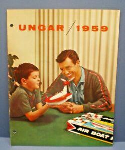 UNGAR 1959  multi page full line color Dealer Sales Catalog L@@K!