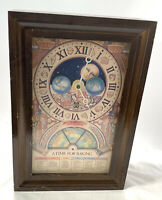"""Nestle Toll House Cookies 50th Anniversary """"A Time for Baking"""" Clock 1979 Wood"""