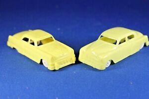 Plasticville - O-O27 - #V-6 - Original vintage Yellow Autos (2) - Excellent++