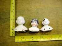 3 x excavated vintage victorian shoulder plate doll head age1860 Kister A. 12992