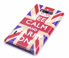 Schutzhülle f LG Optimus L7 P700 P705 Tasche Case Cover England UK keep calm