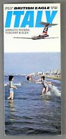 BRITISH EAGLE ITALY SUMMER 1968 AIRLINE TIMETABLE BAC1-11 ONE ELEVEN