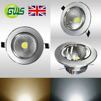 Brushed Chrome Surface IP44 Recessed LED COB Ceiling DownLight Spot Light Bulb