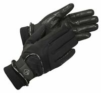 LeMieux WATERPROOF LITE Performance Thinsulate Silicone Riding GLOVES Black S-XL