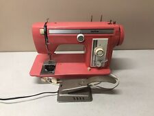 Vintage Brother Sewing Machine Festival 431 Salmon Pink Watermelon w/ Pedal