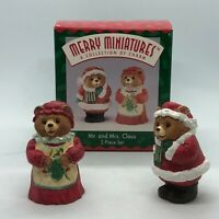 Hallmark Keepsake Merry Miniatures Mr. and Mrs. Claus 2 piece set Christmas Tree