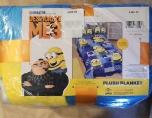 "Franco Kids Bedding Super Soft Plush Blanket, Twin/Full Size 62"" x 90"", Minions"