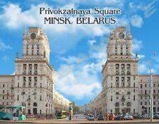 Belarus - MINSK - Travel Souvenir Flexible Fridge MAGNET