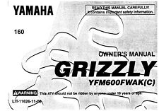 Yamaha Owners Manual Book 1998 Grizzly 600 YFM600FWAK(C)