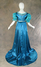 Blue Green Regency Jane Austen Style 2 Pce Teal Ball Gown Costume Medium Cosplay