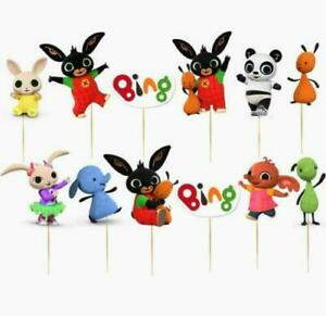 Set of 12 BING BUNNY  Birthday Cup Cake Party Toppers / Decorations Birthday