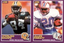 1989 Score Supplemental Football  (1-110) - YOU PICK THE CARD