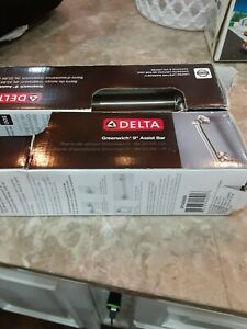 """Lot of 2 Delta DF5209SN Greenwich 9"""" Assist Bars Wall Mounted Safety Handle Rail"""