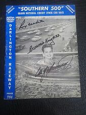 1957 Nascar Darlington Raceway Southern 500 Program Yarborough,White, King Auto