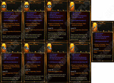 Diablo 3 RoS XBOX ONE [SOFTCORE] - Legendary Follower Relic Bundle - All Relics