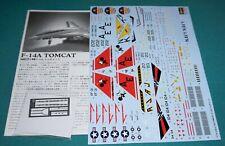 Grumman F-14A Tomcat Hasegawa 1/48 Decals Instructions & Photoetch.