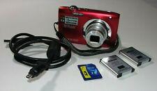 Nikon COOLPIX S2600 14.0 MP Digital Camera - Red - Bundle