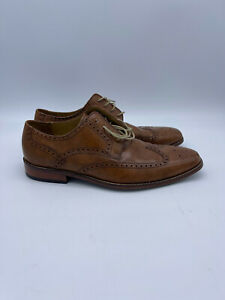 Cole Haan C13390 Giraldo Wing Tip British Tan Leather Oxfords Men's Size 13 M