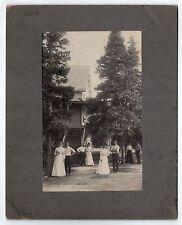 Rare 1901 CAPITOL ISLAND Southport Maine Cabinet Photograph PHOTO South Boston