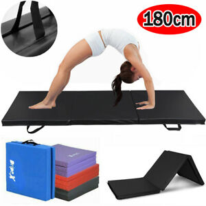 6FT Gymnastics Gym Mat Tri-Folding Crash Floor Foam Mat Yoga Tumble Train Sports