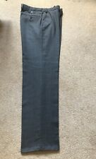 MARKS AND SPENCER COLLECTION REGULAR FIT CHARCOAL GREY WOOL RICH BLEND 34/33