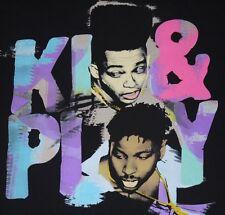 Mens Black Original Flavor KID & PLAY Vintage Look/Feel Graphic T Shirt size L