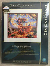 NEW Dimensions Gold Collection Fall Fairy counted 16ct cross stitch kit 70-35262