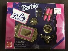Nib Barbie Doll 1995 Pretty Treasures Tea Set