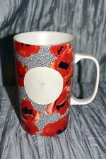 Starbucks Tall Poppy Flowers Dot Collection Ceramic Coffee Cup Mug 16 oz. 2015