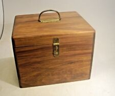 Vintage Hand Made Wood Sample Case with Stain Examples on 24 Wood Samples