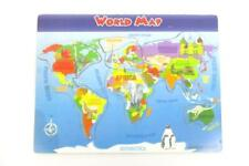 Classic Wood Educational Puzzle World Map Geography Ages 5+