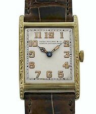 Vintage 1927 PATEK PHILIPPE 18K Gold Large Men's Antique Watch Original Band