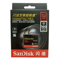 For SanDisk Compact Flash Extreme PRO 128GB 64G CF Card UDMA7 160MB Memory Card